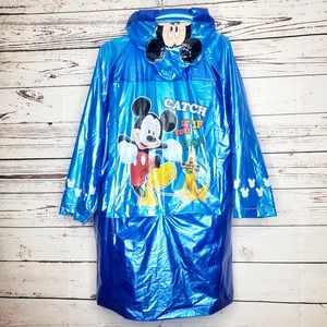 Mickey Mouse And Pluto Rain Jacket Size Large